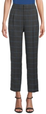 Bar III Windowpane Plaid-Print Pants, Created for Macy's