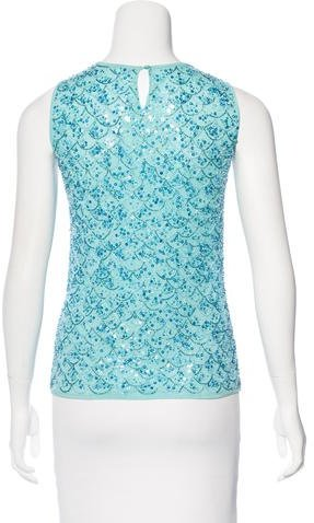 Escada Embellished Sleeveless Top