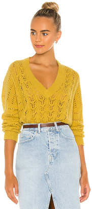 Nation Ltd. Mika Pointelle Slouchy V Sweater
