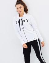 DKNY Mock Neck Zip Front Sweatshirt