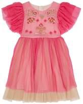 Billieblush Embroidered Ruffle Dress