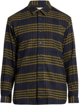 TOMORROWLAND Long-sleeved checked cotton shirt