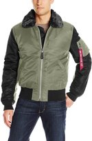 Alpha Industries Men's B-­‐15 Wildcat Nylon Flight Jacket