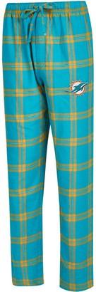 Men's Concepts Sport Aqua/Orange Miami Dolphins Big & Tall Homestretch Flannel Pants