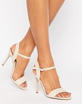 Miss KG Nude Suede Barely There Heeled Sandal