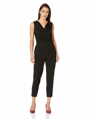 Maggy London Women's Crepe Cowl Neck Jumpsuit