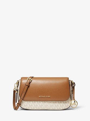 MICHAEL Michael Kors Bedford Legacy Large Logo and Pebbled Leather Crossbody Bag