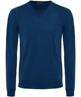 Easy Fit Merino Wool V-neck Bobby Jumper
