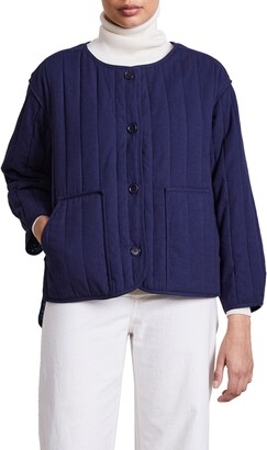 Apiece Apart Elodie Reversible Quilted Cotton Jacket