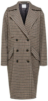 Selected Brown Houndstooth Essie Wool Coat - Grey / 38