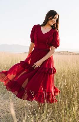 Rachel Parcell Tiered Ruffle Midi Dress