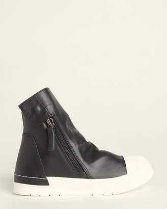 Cinzia Araia Black & White Skin Leather Sneaker Boots