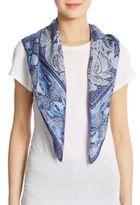 Roberto Cavalli Silk Lace & Python-Print Scarf