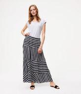LOFT Stripeblock Maxi Skirt