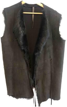 Liviana Conti Black Shearling Jackets