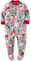 Carter's 1-Pc. Santa Graphic-Print Footed Pajamas, Toddler Girl (2T-5T) or Toddler Boys (2T-5T)