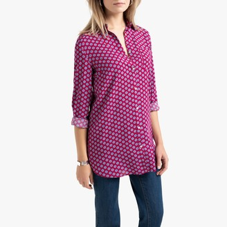 Anne Weyburn Long Printed Tunic with Long Sleeves