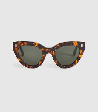 Reiss Neko - Monokel Eyewear Acetate Sunglasses in Brown