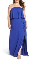 Bobeau Plus Size Women's Strapless Popover Maxi Dress