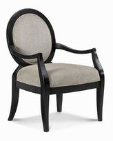 CLOSEOUT! Hand Carved Black Accent Arm Chair
