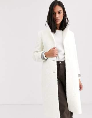 Gianni Feraud boucle coat-White