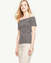 Ann Taylor Striped Off The Shoulder Top