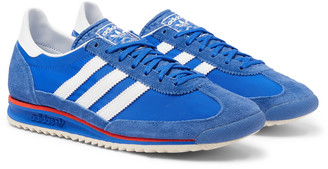adidas Sl 72 Faux Leather, Faux Suede And Shell Sneakers