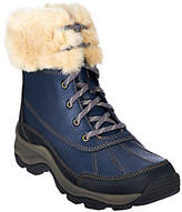 Clarks As Is Leather Water Resistant Lace-up Boots - Mazlyn Arctic