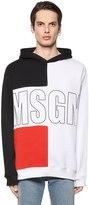 MSGM Color Block Logo Printed Sweatshirt
