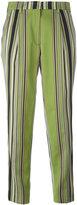 Etro striped straight trousers - women - Silk/Cotton/Polyester/Viscose - 42