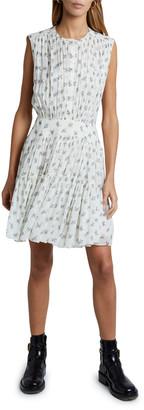 Chloé Floral Silk Georgette Sleeveless Hi-Neck Dress