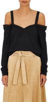 R/R Studio by Robert Rodriguez Women's Off-The-Shoulder T-Shirt-BLACK