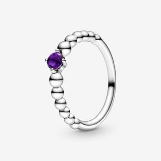 Pandora February Birthstone Beaded Ring