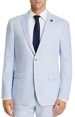 John Varvatos Bleecker Linen & Wool Slim Fit Suit Jacket