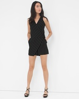 White House Black Market Surplice Stripe Romper