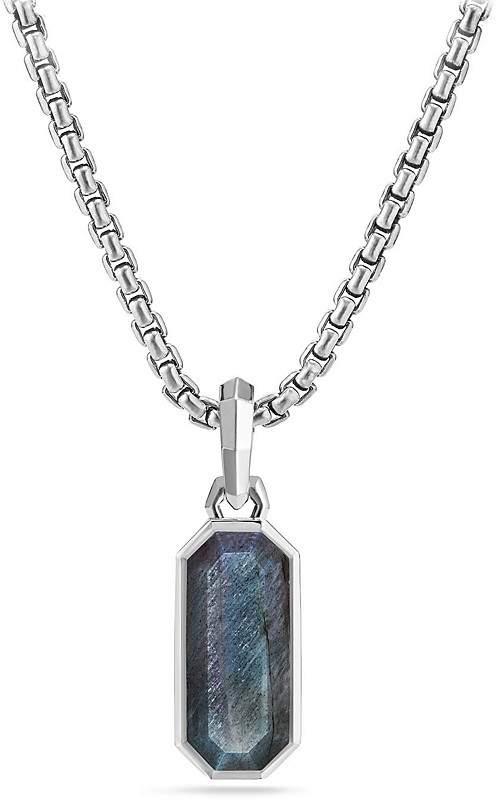 David Yurman Emerald Cut Amulet with Labradorite