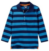 Toobydoo Go Rugby Striped Long Sleeve Polo (Toddler & Little Boys)