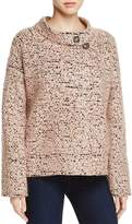 Badgley Mischka Button-Collar Tweed Jacket