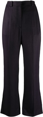 Sandro High-Waist Flared Trousers