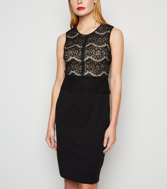 New Look Lace Panel Midi Bodycon Dress