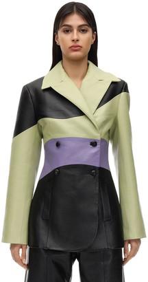 MATÉRIEL Multicolor Faux Leather Jacket
