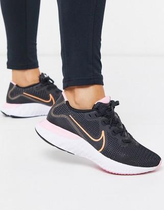 Nike Running Renew Run sneakers in black