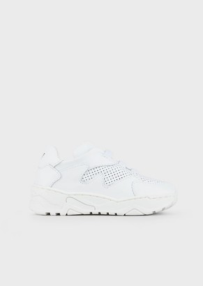 Emporio Armani Perforated Leather Sneakers