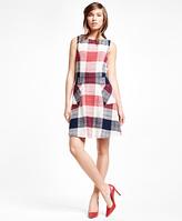 Brooks Brothers Cotton Blend Gingham Dress