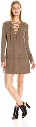 Pam & Gela Women's Lace Front Dress