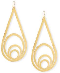 Devon Leigh Hammered Teardrop Dangle Earrings