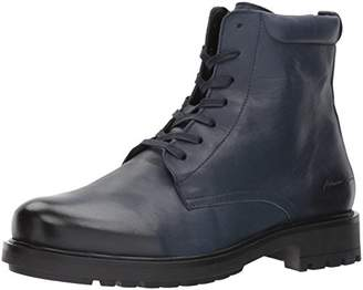 Armani Jeans Men's Chunky Leather Lace Up Boot Fashion