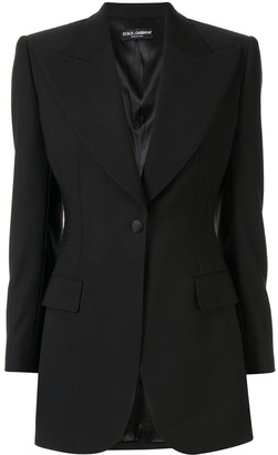 Dolce & Gabbana Fitted Single-Breasted Blazer
