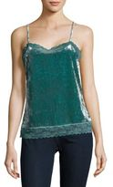 Romeo & Juliet Couture Velvet Woven Lace Camisole