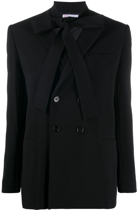 RED Valentino Tie-Detail Double-Breasted Blazer